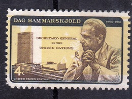 USA,1962- Dag Hammarskjold, Secretary General Of The United Nations.cat. Sc. 1203 MintNH - United States