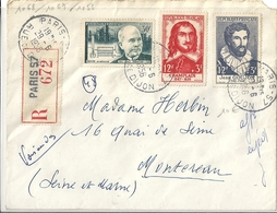 Lettre Affranchie 1956 YT N° 1068 1069 1056 - Autres