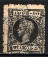 SPAGNA - 1898 - EFFIGIE DI ALFONSO XIII - USATO - Tasse Di Guerra