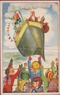 Sinterklaas 1954 Stoomboot Sinterklaasbrief Met Tekst (vouw) Sint-Niklaas - Saint-Nicolas