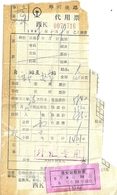 TICKET DE TRAIN  PEKIN-XIAN -TRAIN N°36 VOIE 6 VOITURE 5 COUCHETTE N° 9 - Chemins De Fer