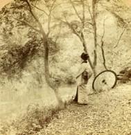Japon Un Soleil D'Automne Ancienne Photo Stereo Strohmeyer Underwood 1900 - Stereoscopic