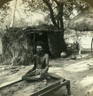 Inde Fakir Sur Son Lit à Clous Ancienne Photo Stereo RY Young ASC 1900 - Stereoscopic