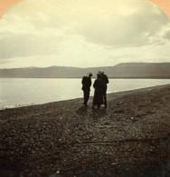 Palestine La Mer Morte Ancienne Photo Stereo Wright 1900 - Stereoscopic