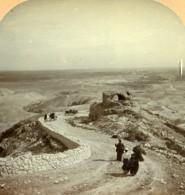 Palestine Plaine De Gilgal & Jericho Ancienne Photo Stereo 1900 - Stereoscopic