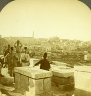Palestine Bethléem Bethlehem Panorama Ancienne Photo Stereo 1900 - Stereoscopic