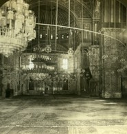 Egypte Le Caire Mosquée Mohammed Ali Ancienne Photo Stereo White 1900 - Stereoscopic