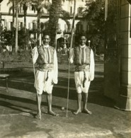 Egypte Le Caire Coureurs Arabes Ancienne Photo Stereo White 1900 - Stereoscopic