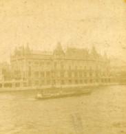 France Paris Exposition Universelle Palais De La Ville Ancienne Photo Stereo 1889 - Stereoscopic