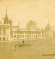 France Paris Exposition Universelle Palais Des Eaux & Forets Ancienne Photo Stereo 1889 - Stereoscopic