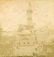 France Paris Exposition Universelle Palais De La Marine Allemande Ancienne Photo Stereo 1889 - Stereoscopic
