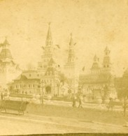 France Paris Exposition Universelle Palais Russe Ancienne Photo Stereo 1889 - Stereoscopic