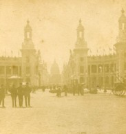France Paris Exposition Universelle Esplanade Des Invalides Ancienne Photo Stereo 1889 - Stereoscopic