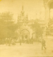 France Paris Exposition Universelle Ardoisières Du Nord Ancienne Photo Stereo 1889 - Stereoscopic