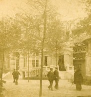France Paris Exposition Universelle Pavillon Du Luxembourg Ancienne Photo Stereo 1889 - Stereoscopic