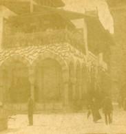 France Paris Exposition Universelle Pavillon Bosnie Herzegovine Ancienne Photo Stereo 1889 - Stereoscopic