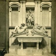 Italie Florence Tombeau De Julien De Medicis Michel-Ange Anciene Stereo Photo SIP 1900 - Stereoscopic