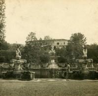 Italie Florence Jardins Boboli Fontaine De Neptune Anciene Stereo Photo SIP 1900 - Stereoscopic