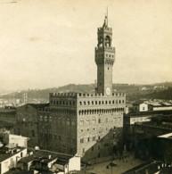 Italie Florence Panorama Palazzo Vecchio Anciene Stereo Photo SIP 1900 - Stereoscopic