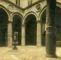 Italie Florence Cour Du Palazzo Vecchio Anciene Stereo Photo SIP 1900 - Stereoscopic