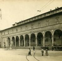 Italie Florence Galerie Des Saints Innocents Ospedale Degli Innocenti Anciene Stereo Photo SIP 1900 - Stereoscopic