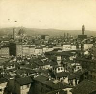 Italie Florence Panorama Depuis San Spirito Anciene Stereo Photo SIP 1900 - Stereoscopic