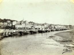 France Trouville La Touques à Marée Basse Voiliers Ancienne Photo Villeneuve 1900 - Photos