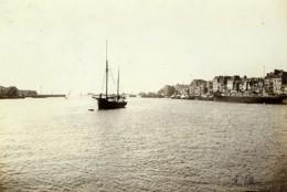 France Le Havre Vue De L'avant-port Bateau Ancienne Photo Villeneuve 1900 - Antiche (ante 1900)