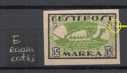 ESTLAND Estonia 1920 Michel 23 B + ERROR Abart MNH - Estonie