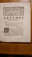 LETTRES PATENTES 1743  PROVINCE DU LANGUEDOC EMPRUNT DE TROIS MILLIONS - Décrets & Lois
