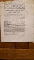 LETTRES PATENTES 1774  OFFICES MUNICIPAUX DES VILLES DE LA PROVINCE DE LANGUEDOC - Decreti & Leggi