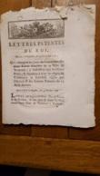 LETTRES PATENTES DU ROI 1787  QUI CHANGES LES JOURS DES DEUX FOIRES FRANCHES DE TOULOUSE - Décrets & Lois