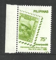 PHILIPPINES 1986 AMERIPEX STAMP ON STAMP SET REPRINT MNH - Philippines