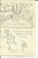 39 - Jura - Dole - Fetes Des écoles Laiques - Promenade Du Pasquier-14 Juillet - Programme-  - 1937 - Réf.27 - France