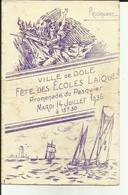 39 - Jura - Dole - Fetes Des écoles Laiques - Promenade Du Pasquier-14 Juillet - Programme-  - 1936 - Réf.27 - France