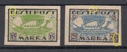 ESTLAND Estonia 1920 Michel 23 - 24 B + ERROR Abart * - Estonie