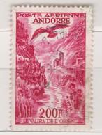 ANDORRE FRANCAIS 1955::  Le Timbres De Poste Aérienne à 200F,  (Y&T 3) Oblitéré - Poste Aérienne