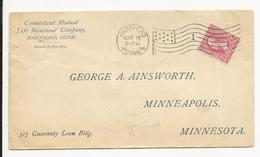 Cover * USA * 1898 * Hartford - Brieven En Documenten