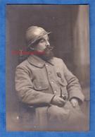Photo Ancienne - Beau Portrait Studio D'un Poilu Du 37e Régiment Infanterie Territorial ? - Pipe Médaille - Guerre, Militaire
