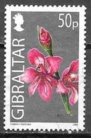 2004 Common Gladiolus, 50p, Used - Gibraltar