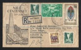 Uganda & Tanganyika Tanganyika 1963 Registered Postal Used Cover To Pakistan - Tanganyika (...-1932)