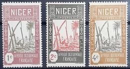 NIGER SERIE N°29-30-31-33-38-39 - 5 Neuf Sans Charnière / MNH - 1 Oblitéré (o) - Niger (1921-1944)