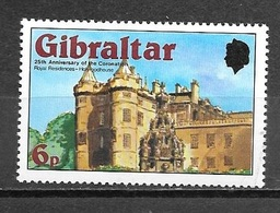 1978 25th Anniversary Of Coronation, 6p, Mint Never Hinged - Gibraltar