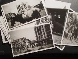 LOT 25 PHT BELGIQUE (M1819) COTE BELGE LA PANNE KNOKKE (16 VUES) La Plage, La Digue, Les Cabines,... - Albums & Collections