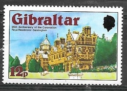1978 25th Anniversary Of Coronation, 12p, Mint Never Hinged - Gibraltar