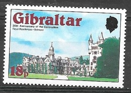 1978 25th Anniversary Of Coronation, 18p, Mint Never Hinged - Gibraltar