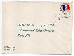 Poste Navale-1965-Lettre De HYERES MARINE-83  Pour PARIS 7°- Timbre F.M  -cachet Hexagonal ....à Saisir - Marcophilie (Lettres)