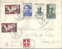 Lettre Affranchie 1959  YT N° 1190 1169 1133 1179 - Autres