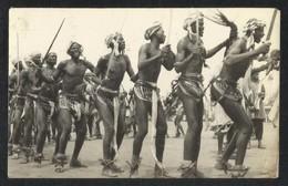Ghana Northern Traditional Dance Tamale Black & White Picture Postcard - Ghana - Gold Coast