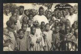 Nigeria AWO Of The Children Black & White Picture Postcard - Nigeria